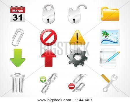 Glossy Web Icons Set