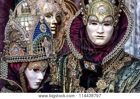 Beautiful Carnival Masks at Carnival of Venice