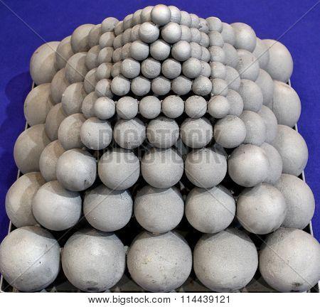 Pyramid Of Grinding Balls