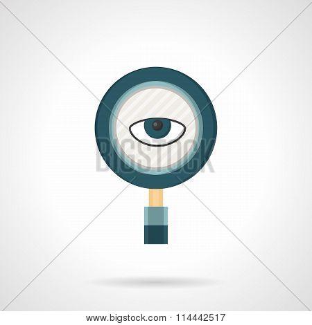 Spy flat color vector icon