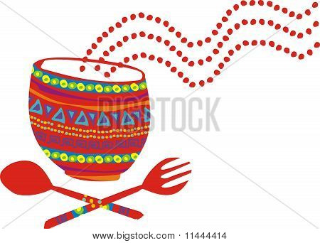 Mexican food aromas cooking eating mixing bowl utensils