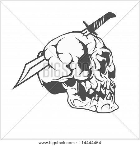Pirate Skull in with Sword