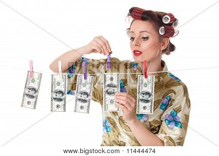 Young Woman With Money.