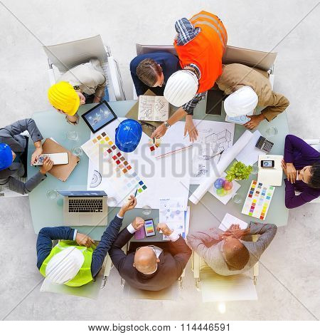 Business People Designers and Architects Working Concept