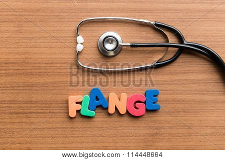 Flange Colorful Word