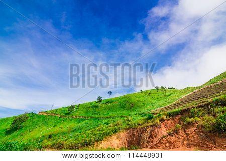 Mountain Landscape In Morning