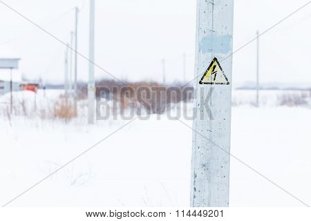 Danger Electrical Hazard High Voltage Sign
