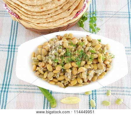Indian Food Field Bean Curry