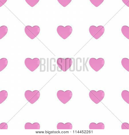 Pink Hearts Seamless Tileable Pattern