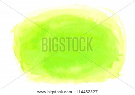 Abstract Spring Fresh Watercolor Brushed Background