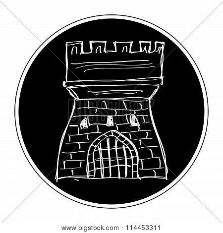 Simple Doodle Of A Castle
