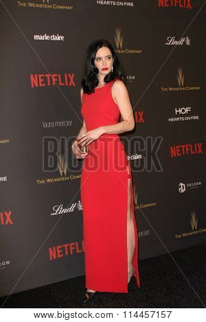 BEVERLY HILLS, CA - JAN. 10: Krysten Ritterarrives at the Weinstein Company and Netflix 2016 Golden Globes After Party on Sunday, January 10, 2016 at the Beverly Hilton Hotel in Beverly Hills, CA.