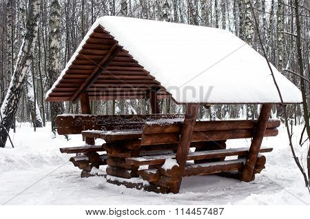Alcove Covered With Snow