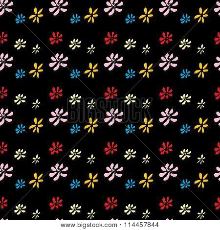 Seamless Pattern Flower . Hand Drawing.