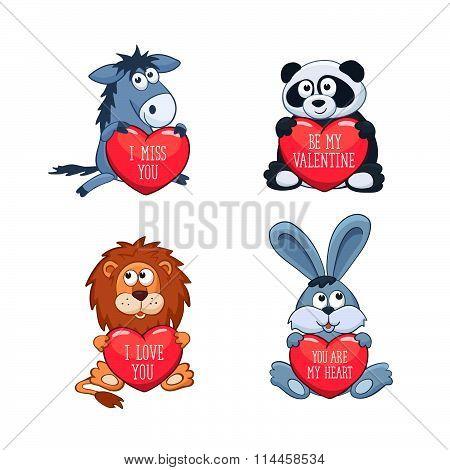 Cartoon Valentine's Day card