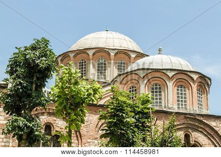 Exterior Of Chora Church, Ancient Byzantine Church In Istanbul, Turkey