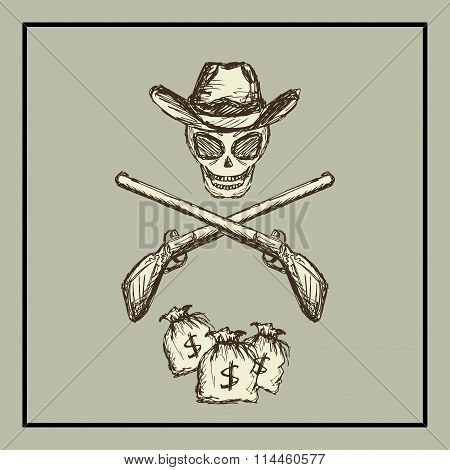 Wild West. vector