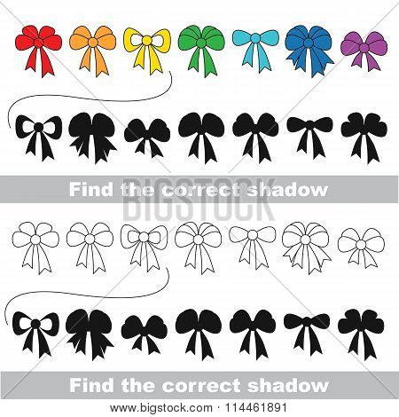 Bow set. Find correct shadow.