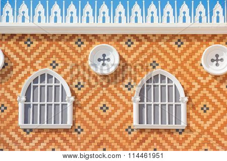 Window Made Of Brick At Venezia, Thailand
