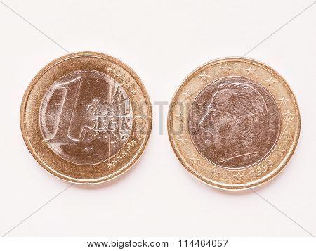 Belgian 1 Euro Coin Vintage