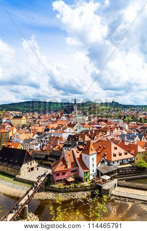 View Over Krumlov In Bohemia..