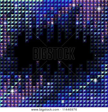 Vector Rhinestone Mosaic Background