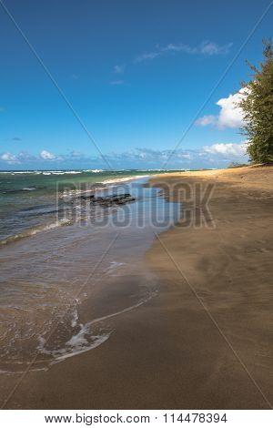 Ke'e beach in Kauai, Hawaii