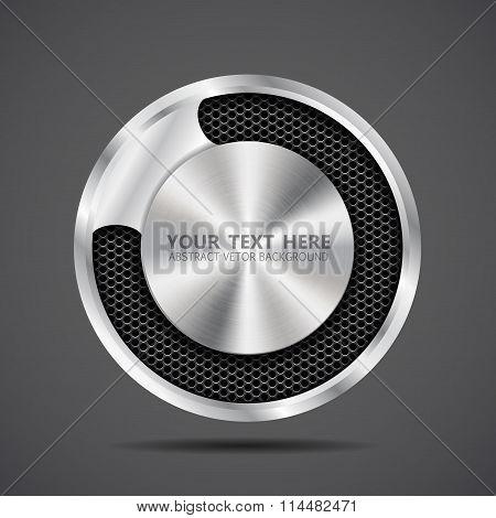 metal banner  black grille eps 10