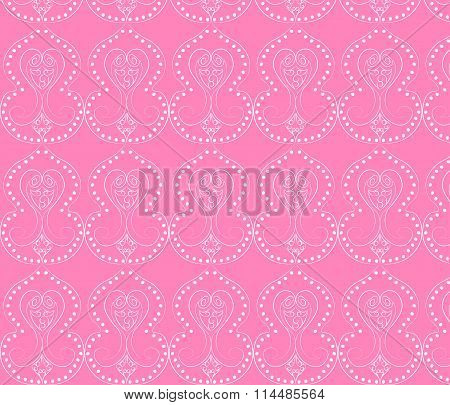 Classic style baroque ornament pattern