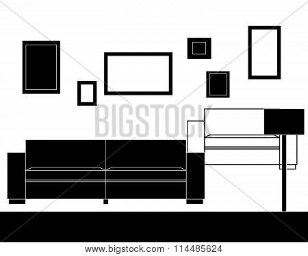 Modern sofa furniture set