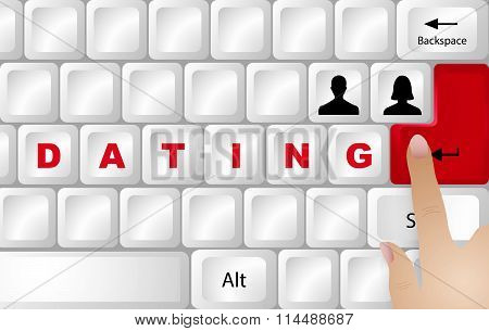 Dating Concept Vector