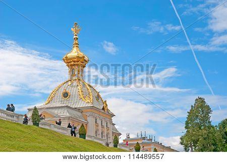 Peterhof. Russia. The Armorial Block