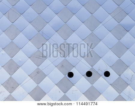 Metal Panel With Three Holes