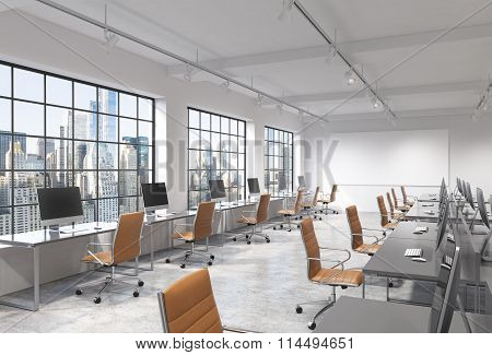 Open Space Office With Computers
