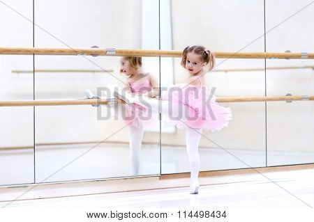 Little Ballerina At Ballet Class