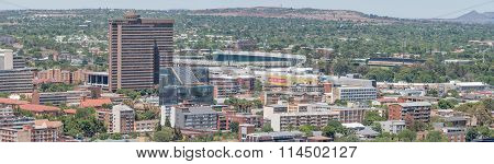 Panorama Of Part Of The Central Business District In Bloemfontein