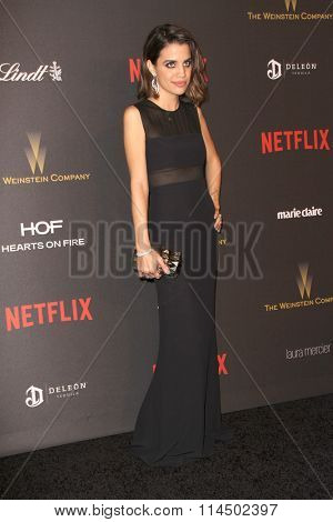 BEVERLY HILLS, CA - JAN. 10: Natalie Morales arrives at the Weinstein Company and Netflix 2016 Golden Globes After Party on Sunday, January 10, 2016 at the Beverly Hilton Hotel in Beverly Hills, CA.
