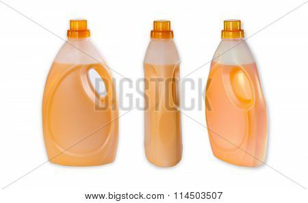 Three Bottle With Fabric Softener