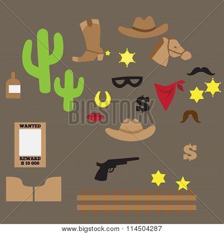 set of vintage cowboy party ideas