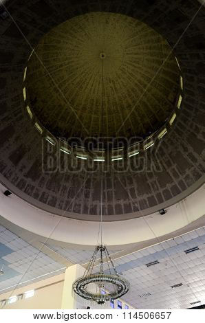 Inside main dome of Malaysia Putra University Mosque