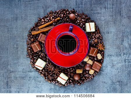 Coffee Composition Background