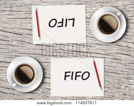 Business Concept : Comparison Between Fifo And Lifo