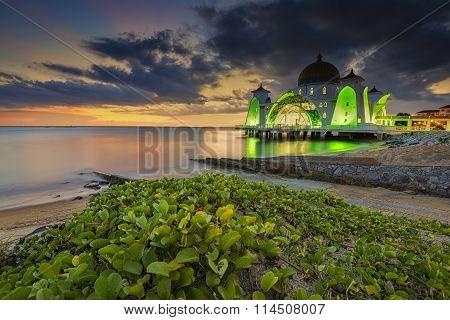 Malacca Strait during dusk
