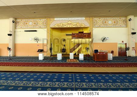 Interior of Malaysia Putra University Mosque