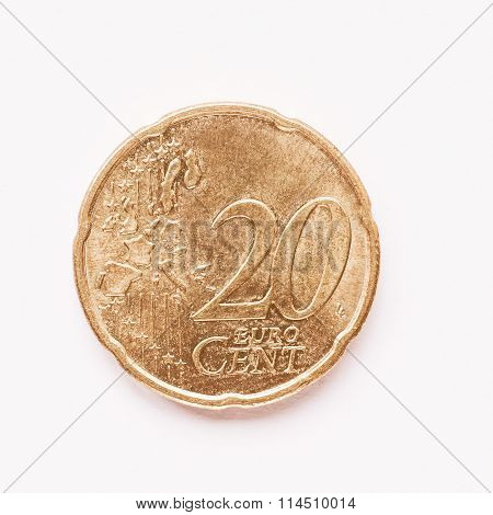 20 Cent Coin Vintage
