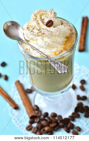 Pumpkin Latte With Cinnamon,caramel And Whipped Cream.