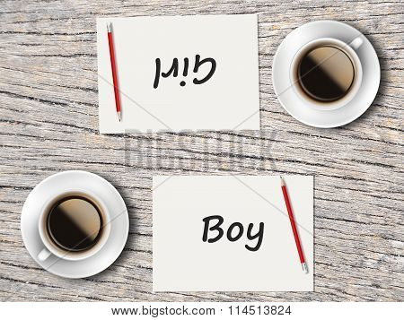 Business Concept : Comparison Between Boy And Girl