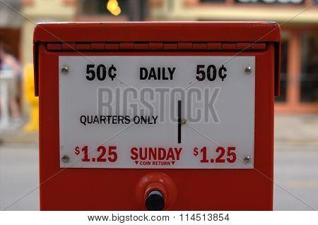 Newspaper vending machine