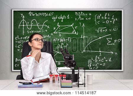Teacher Woman Thinking