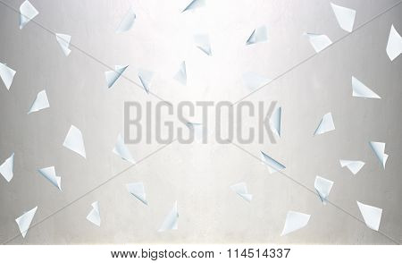 Flying Business Blank Paper